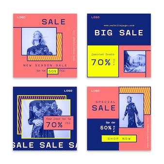 Collezione post vendita instagram colorato