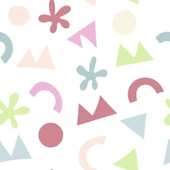 Modello senza cuciture colorato con forme astratte sfondo per bambini