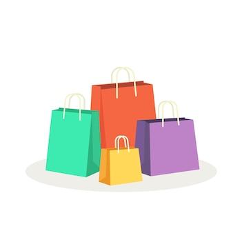 Illustrazione variopinta di vettore dei sacchetti della spesa