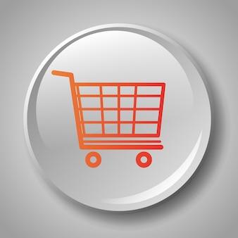 Icona variopinta del distintivo del carrello della spesa