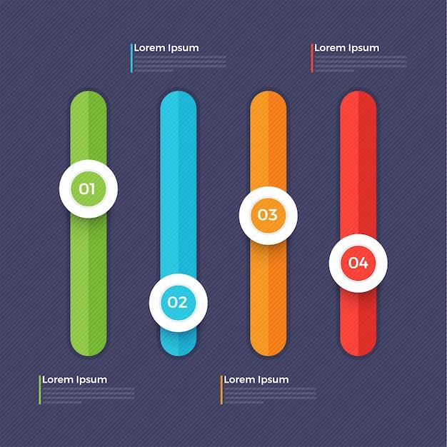 Elemento infrared cursori colorati per business.