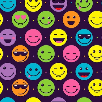 Modello di emoticon sorriso colorato