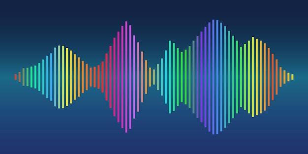 Sfondo vettoriale colorato dell'onda sonora