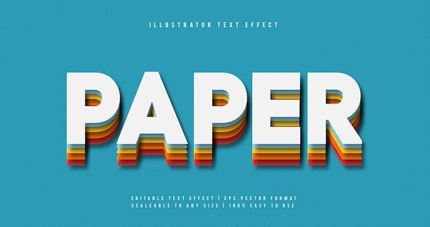 Effetto carattere colorato stack papercut testo