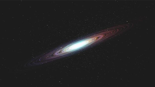 Luce stella colorata su sfondo galaxy con spirale della via lattea, universo e concept design stellato, vettoreve
