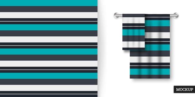 Motivo a strisce colorate senza cuciture e asciugamani