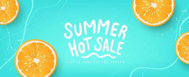 I banner di layout di sfondo estivo colorato progettano l'intestazione del poster orizzontale per il sito web Vettore Premium