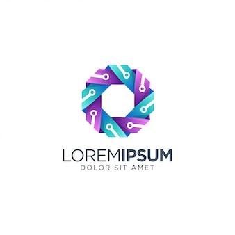 Tecnologia colorata logo design