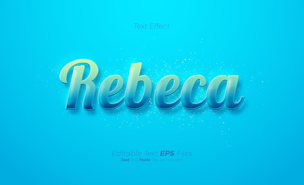 Effetto testo colorato su sfondo blu