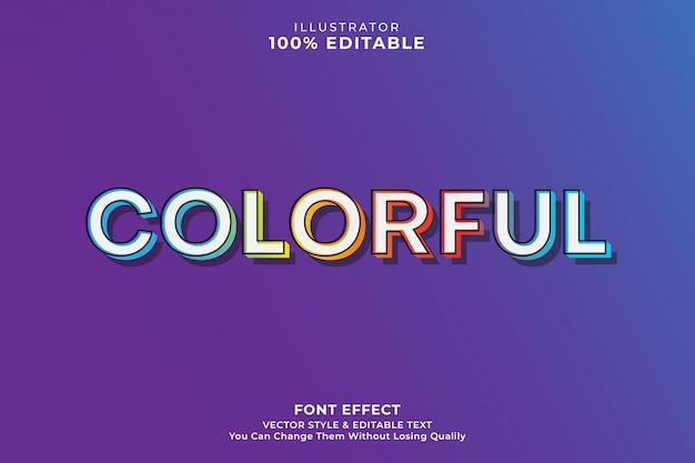 Effetto di testo colorato