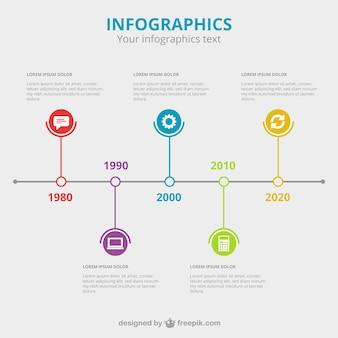 Colorful temporale infografica