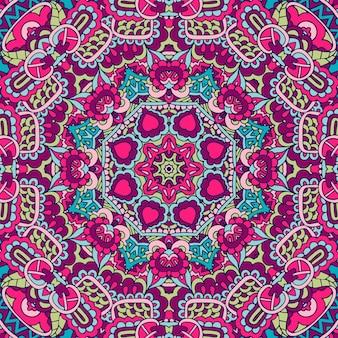 Astratto festivo etnico tribale colorato senza soluzione di continuità