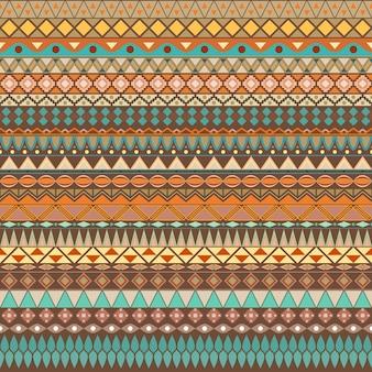 Modello senza cuciture etnico vintage tribale colorato