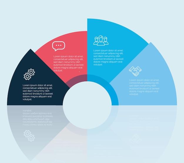 Design vettoriale colorato per layout del flusso di lavoro, diagramma, opzioni numeriche, web design, infografica