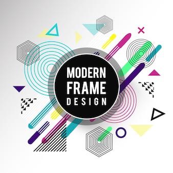 Design moderno telaio colorato vettoriale