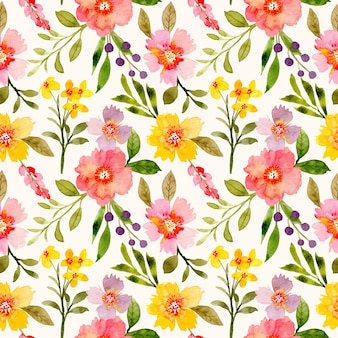 Modello senza cuciture floreale dell'acquerello colorato