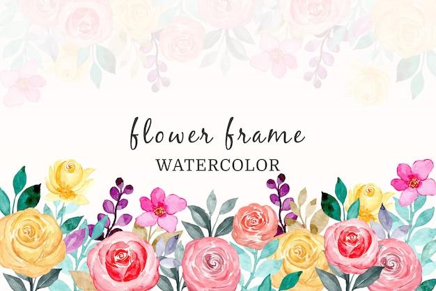 Sfondo colorato fiore ad acquerello