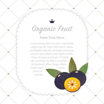 Colorate texture acquerello natura frutta organica memo frame amazon acai