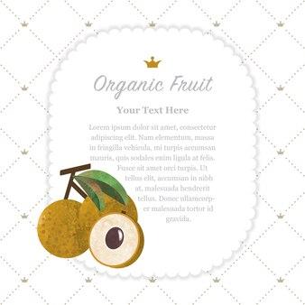 Colorate texture acquerello natura frutta organica memo frame longan