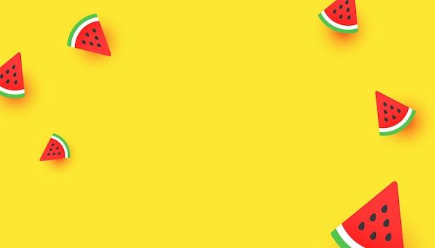 Modello di sfondo colorato fette di anguria
