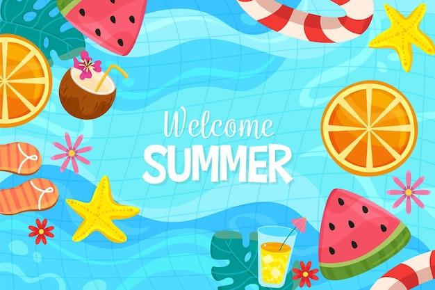 Sfondo colorato di benvenuto estivo