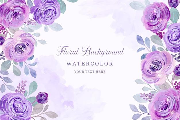 Cornice floreale selvaggia colorato modello floreale dell'acquerello