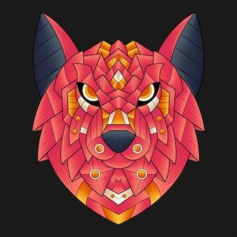 Illustrazione di lupo colorato