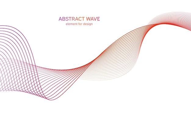 Elemento d'onda equalizzatore colorato per il design