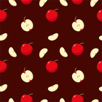 Mela di frutta colorata senza soluzione di continuità