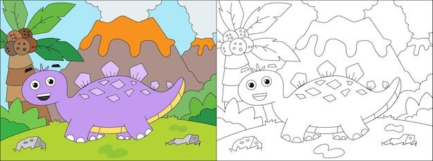 Libro da colorare dino