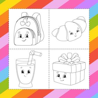 Libro da colorare per bambini personaggio dei cartoni animati
