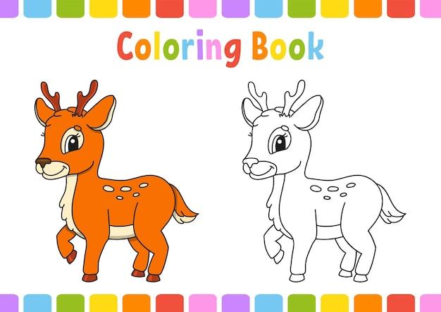 Libro da colorare per bambini cervi