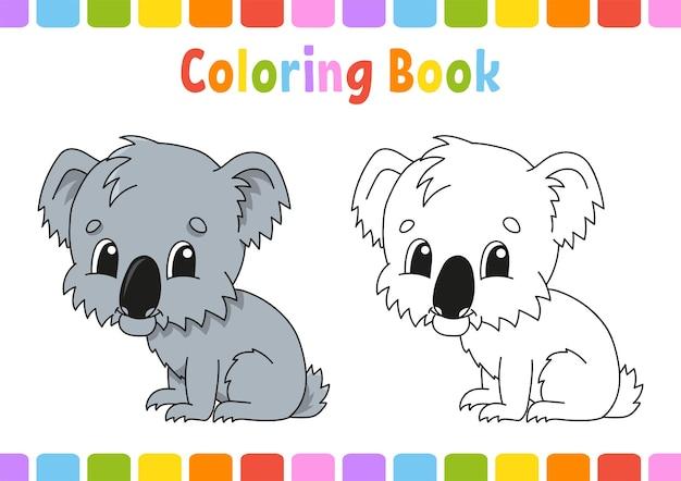 Libro da colorare per bambini koala