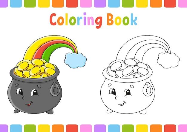 Libro da colorare per bambini giorno di san patrizio