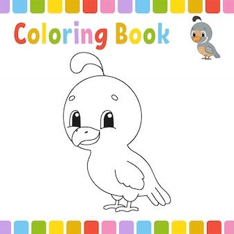 Pagine di libri da colorare per bambini. simpatico cartone animato