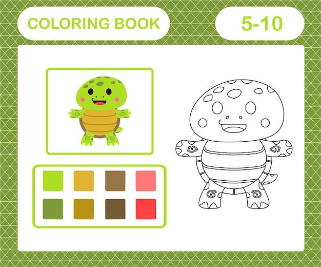 Pagina da colorare di tartaruga carina