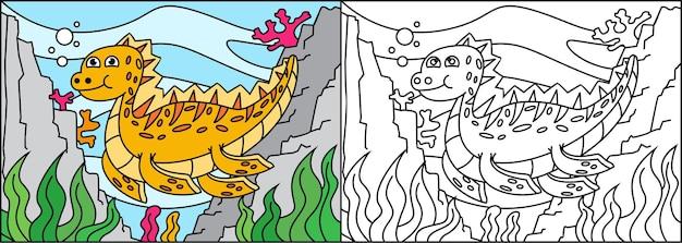 Pagina da colorare dinosauri per bambini