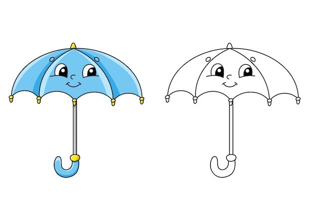 Pagina da colorare per l'illustrazione dei bambini