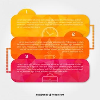 Caselle di colori del testo pacco