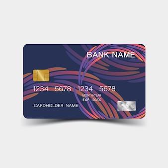 Design della carta di credito a colori e ispirazione dall'estratto su sfondo bianco