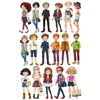 Persone collezione colorata