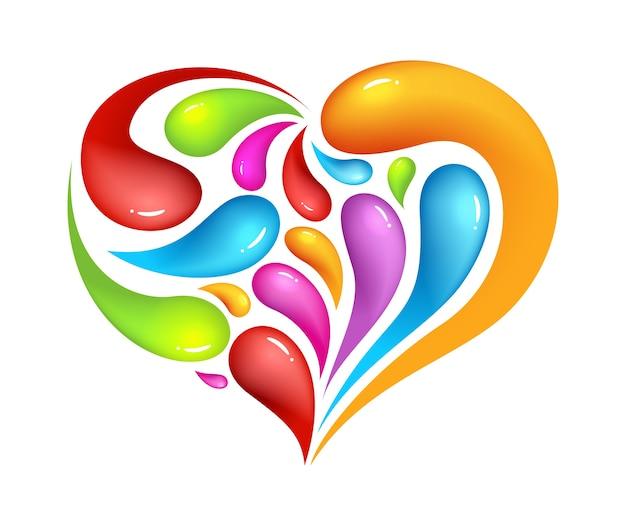 Icona di abstrak colorato di cuore