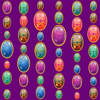 Modello di perline colorate