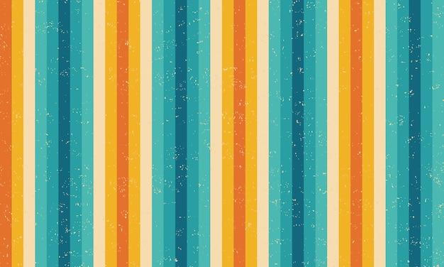 Strisce colorate grunge design pattern retrò.