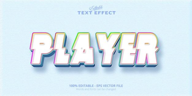 Testo modificabile del giocatore di effetti di testo in stile colorato