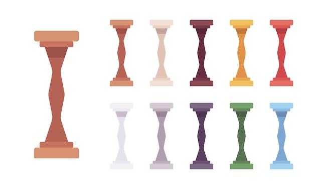 Set di colonnine per colonne