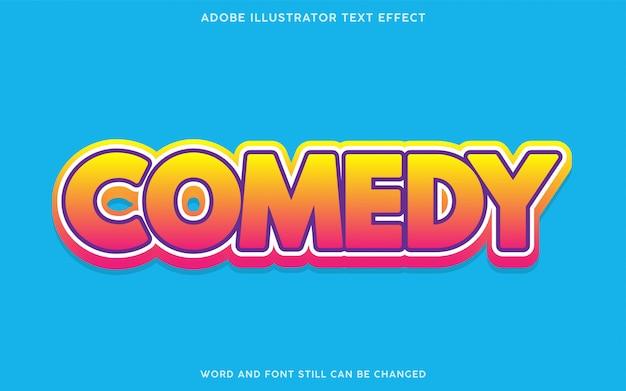 Effetto testo gradiente commedia
