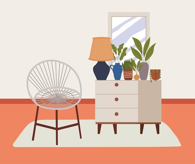 Illustrazione di casa comoda