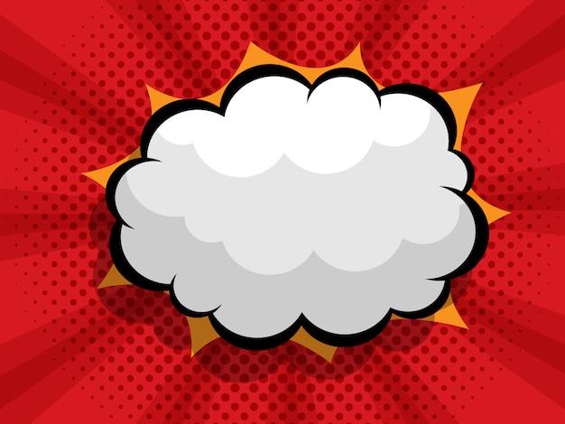 Sfondo comico con nuvoletta boom vuoto Vettore Premium