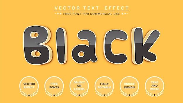 Stile carattere effetto testo modifica nero comico edit